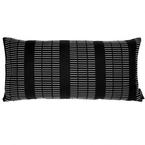 Canvas rectangular cushion Dash Black