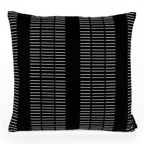 Canvas cushion Dash Black