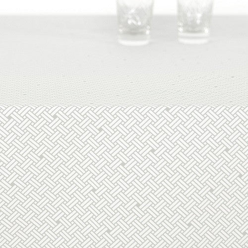 Acrylic table cloth, WEAVE mercury aqua