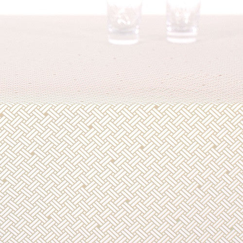 Acrylic table cloth, WEAVE tan brown