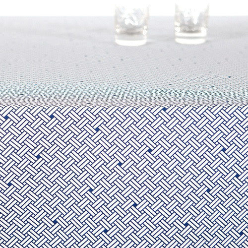 Acrylic table cloth, WEAVE navy blue