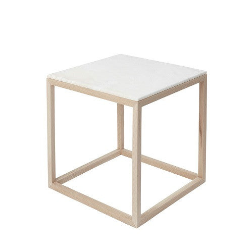 CUBE table- Oak/White