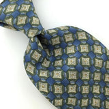 BARRINGTON Linked Circles Square BLUE OLIVE GREEN Silk Men Necktie I1-595 Ties