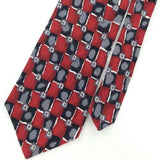 COCKTAIL COLLECTION Checkered MAROON GRAY Silk Men Necktie I1-486 Excellent Ties