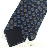 BILL BLASS 3D GEOMETRIC BLUE BLACK Brown Silk Men Necktie I1-315 Excellent Ties