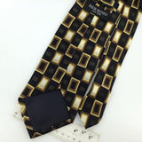 HERMOSO HANDMADE Dots Squares BLACK BROWN Silk Men Necktie I1-620 Excellent Ties
