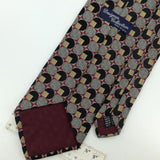 DESIGNER COLLECTION US MADE SQUARE CIRCLES MAROON GRAY Woven Neck Tie I1-145