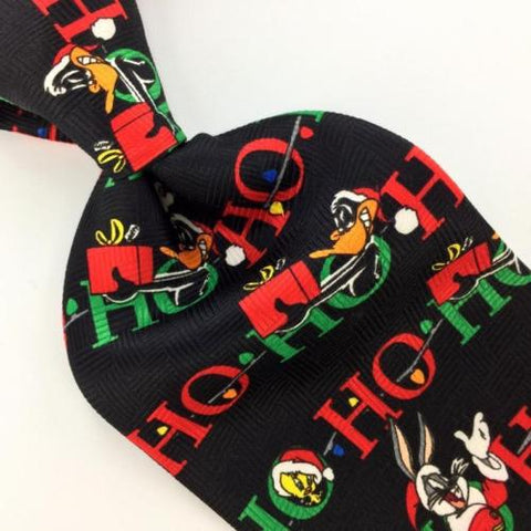 LOONEY TUNES HO HO HO BLACK GIFTS Christmas Men's Necktie tie #XP1-238 New