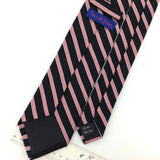 XL 61'' TOUR DE FORCE STRIPED NARROW BLACK RED Silk Woven Necktie Tie I1-834 New