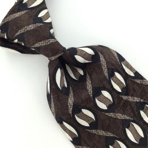 ZYLOS GEORGE MACHADO US MADE WAVES GEOMETRIC BLK Gray I1-72 EUC Neck Ties