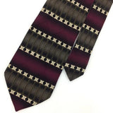 FENZIA MAROON RECTANGLES Circles Olive Green STRIPED Silk Necktie Ties I6-47 New