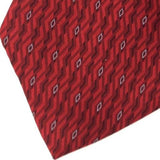 ARROW US MADE MICRO DIAMONDS ZIG ZAG Red Silk Men Classic Necktie I2-99 Ties