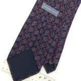 GEOFFREY BEENE MADE IN ITALY ART DECO BLUE Red Silk Classic Necktie I2-187  Ties