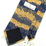BILL BLASS US MADE Floral Brocad Yellow Gray Silk Necktie I1-265 Excellent Ties
