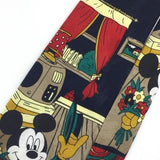 Disney MICKEY MOUSE VINTAGE FLOWERS CLASSIC BLUE RED ITALY Necktie Ties B1-35