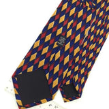 NAMELESS US MADE DIAMONDS Checkered BLUE RED YELLOW Silk Men Necktie I1-413 Ties