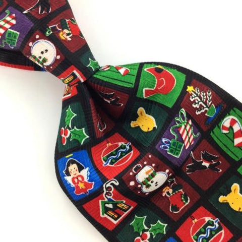 ADDICTION CANDY CANE ORNAMENTS HOLLY BERRY Christmas Men Necktie #XP2-265 New