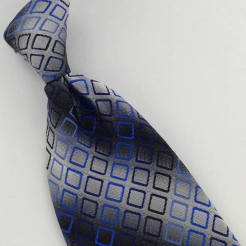 New CROFT & BARROW BLACK GRAY WOVEN GEOMETRIC POLYESTER MENS NECKTIE TIE#48HA
