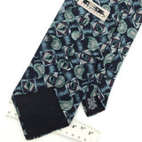 JT BECKETT BLACK Turqoise Gray Ancient Madder Paisley Silk Neck Tie H2-268
