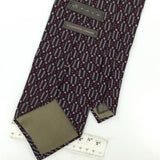 SEPIA US MADE MAROON Gray GEOMETRIC Silk Classic Necktie I2-523 Excellent Ties