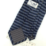 CAPE COD US MADE DIAMONDS/Stripe STEEL BLUE Silk Men Necktie I1-426 EUC Ties