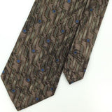J FERRAR MADE IN ITALY BEIGE GEOMETRIC Silk Men Classic Necktie I2-514 Ties