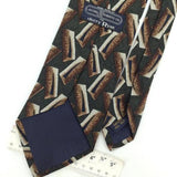 JACOBS ROBERTS US BROWN GEOMETRIC Silk Men Classic Necktie I2-513 Excellent Ties