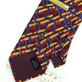COCKTAIL COLLECTION RED YELLOW Blue Abstract Vibrant Silk Necktie H2-323 EUC Tie
