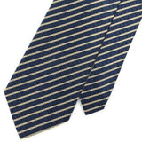 XL 62'' CARRINGTON SIGNATURE STRIPED Steel BLUE Woven Necktie Tie I1-837 New