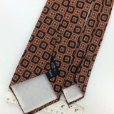 VINTAGE COUNTESS MARA Logo Brown Silk Ancient Madder Short Necktie #I2-500 Ties
