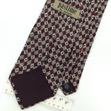 PASTIME US MADE DIAMONDS MAROON Gray Silk Classic Necktie I2-372 Excellent Ties