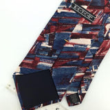 KETCH US MADE ART DECO MAROON Red BLUE Silk Men Necktie I1-38 Excellent Ties