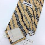 CLAIBORNE TIE USA MADE STRIPE Yellow Blue Gray Short Silk Necktie Ties I6-94 New