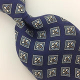 VINTAGE CHRISTIAN DIOR TIE NARROW Ancient Madder BLUE Short Necktie I6-178