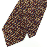 FERRELL REED US MADE TRIANGLES MAROON BLUE Silk Men Necktie I1-85 Excellent Ties