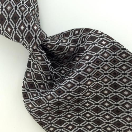 VAN HEUSEN WOVEN DIAMONDS BROWN THICK BLACK Mens Necktie Tie IP4-472 New