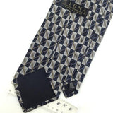 "XL 63"" SIENA COLLEZIONE BLACK GRAY GEOMETRIC Checkered Silk Men Neck Tie H2-225"