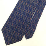 STAFFORD BLUE RED GEOMETRIC Sketchwork Silk Men's Neck Tie H2-385