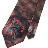 DUELING PELICANS GRACE NEWSBERGER WATER COLOURED ART DECO PINK Necktie I1-436