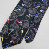 7TH AVE BLACK RED YELLOW SKYBLUE Fishing Hooks Silk Men's Neck Tie #Z1-89 New