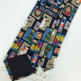 "59"" Long PURITAN NUTCRACKERS SNOWMAN CANDYCANE Christmas Necktie Tie X6-147 New"