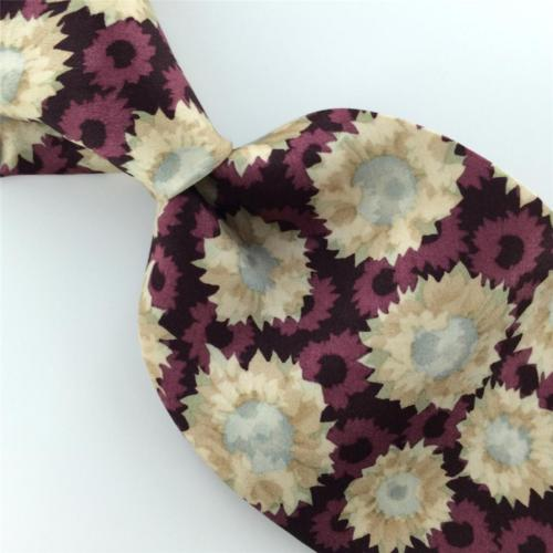 CLAIBORNE PURPLE SKIN FLORAL Silk Mens Neck Tie H2-108 Excellent
