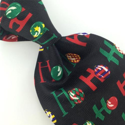 ADDICTION BLACK RED BALLOONS ORNAMENTS Ho Ho Christmas Necktie Tie X6-295 New