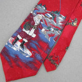 Wembley Santa Huts Red Skyblue Christmas Silk Men's Necktie tie X6-44 Ties New