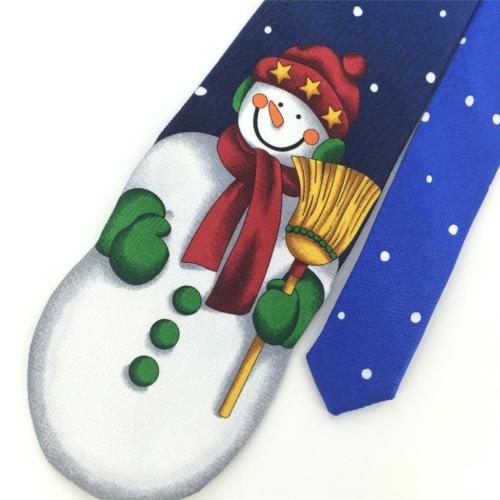 ADDICTION BLUE Red Grn SNOW MAN Broom Dots Christmas Men Necktie Tie X6-298 New