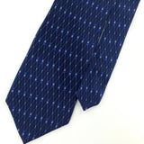 ARROW US MADE Linked Diamods NAVY BLUE Silk Men Necktie I2-512 Excellent Ties