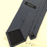 DKNY GEOMETRIC GRAY Woven Silk Men Necktie  Tie I1-939 Excellent