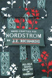 "XL 60"" J Z RICHARDS BLACK RED WHITE FLORAL SILK Luxury Men TIE NECKTIE #A1-10"