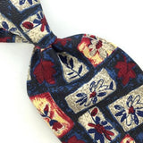 GEOFFREY BEENE US MADE Red BLUE Gray FLORAL Silk Men Classic Necktie I2-221 Ties