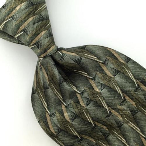 ALLYN SAINT GEORGE US MADE OLIVE GREEN Diamonds Classic Necktie I2-117 Ties